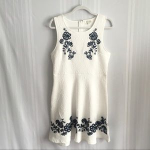 Francesca's Floral Sleeveless Embroidered Dress
